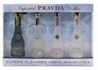 Pravda Vodka 4er Set 5cl Swarovski Edition 20cl Vol 37.5%